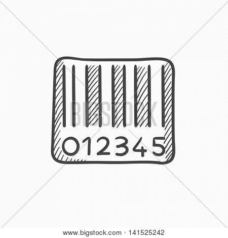 Barcode vector sketch icon isolated on background. Hand drawn Barcode icon. Barcode sketch icon for infographic, website or app.