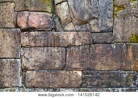 Old wall background texture tetris stone blocks