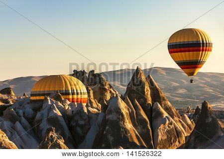 Hot Air Balloons On Cappadocia, Turkey