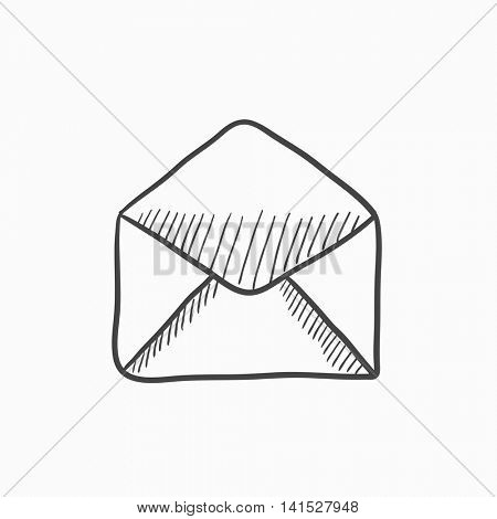 Envelope vector sketch icon isolated on background. Hand drawn Envelope icon. Envelope sketch icon for infographic, website or app.