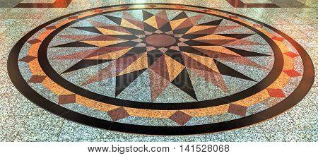 Wind Rose Compass Floor