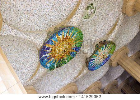 Ceramic Ornate Ceiling Sun