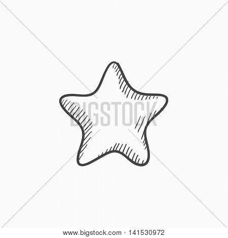 Rating star vector sketch icon isolated on background. Hand drawn Rating star icon. Rating star sketch icon for infographic, website or app.