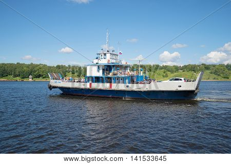 TUTAYEV, RUSSIA - JULY 14, 2016: Self-propelled cargo-passenger river ferry