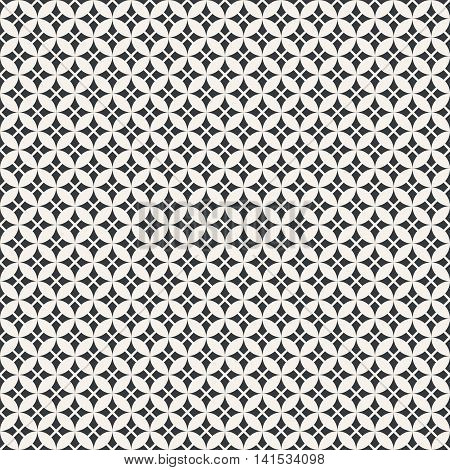 Seamless pattern. Classical texture with regularly repeating geometric shapes rhombuses crosses. Vector element of graphical design