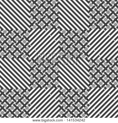 Checkered seamless pattern. Classical stylish texture with thin lines stripes. Regularly repeating geometrical grids cages. Vector seamless background