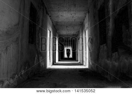 Danger horrible of abandoned buildingsimage of conceptual