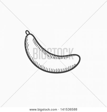 Banana vector sketch icon isolated on background. Hand drawn Banana icon. Banana sketch icon for infographic, website or app.