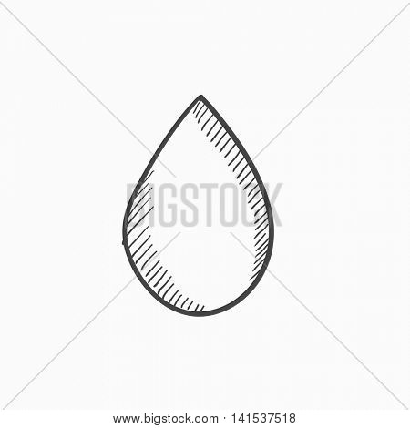 Water drop vector sketch icon isolated on background. Hand drawn Water drop icon. Water drop sketch icon for infographic, website or app.