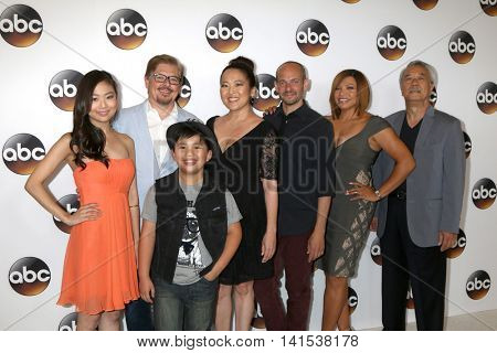 LOS ANGELES - AUG 4: Krista Yu, Foley, Albert Tsai, Suzy Nakamura, Slavin, Campbell-Martin, Dana Lee at the ABC TCA Summer 2016 Party at the Beverly Hilton Hotel on August 4, 2016 in Beverly Hills, CA