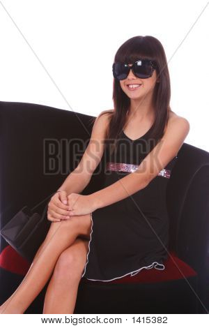 Trendy Girl With Sunglasses