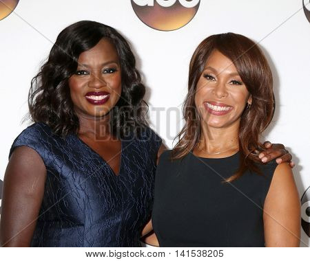 LOS ANGELES - AUG 4:  Viola Davis, Channing Dungey at the ABC TCA Summer 2016 Party at the Beverly Hilton Hotel on August 4, 2016 in Beverly Hills, CA