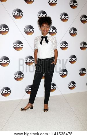 LOS ANGELES - AUG 4:  Yara Shahidi at the ABC TCA Summer 2016 Party at the Beverly Hilton Hotel on August 4, 2016 in Beverly Hills, CA