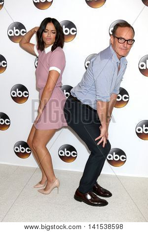 LOS ANGELES - AUG 4:  Chloe Bennet, Clark Gregg at the ABC TCA Summer 2016 Party at the Beverly Hilton Hotel on August 4, 2016 in Beverly Hills, CA