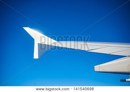 View of left wing with winglet.