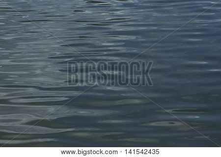 Abstract darken water surface with ripples. Abstract background.