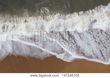 Waves at Jurassic Coast in West Bay Dorset