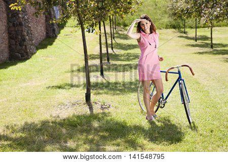 Pretty Girl On The Bike Ride