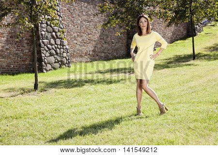 Attractive Woman In The Park