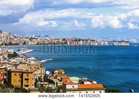 Landscape In Naples İn İtaly