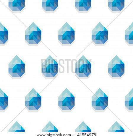 Vector seamless pattern in polygonal style isolated on white background