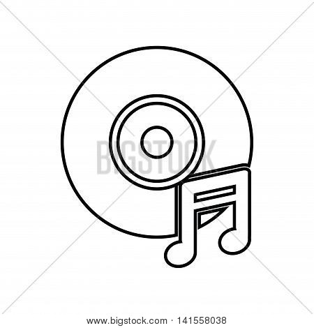 vinyl music note sound dj melody icon. Isolated and flat illustration. Vector graphic