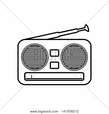 radio music sound dj melody icon. Isolated and flat illustration. Vector graphic