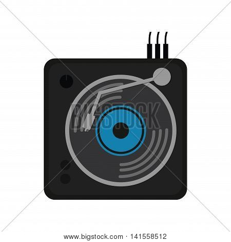 vinyl machine equalizer music sound dj melody icon. Isolated and flat illustration. Vector graphic