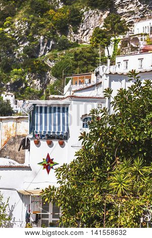 Terraced Houses On Cliffs In Positano