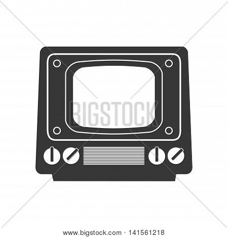 tv television vintage retro technology icon. Isolated and flat illustration. Vector graphic