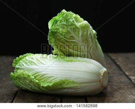 Chinese cabbage on dark background