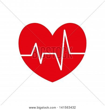 heart pulse cardio cardiology icon. Isolated and flat illustration. Vector graphic