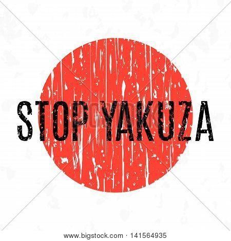 Vector Yakuza Symbol. Japanese transnational organized crime organizations.