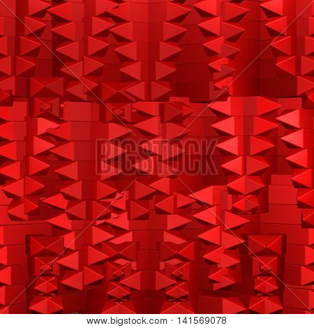 Red abstarct background. Full frame. 3D rendering.