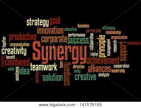 Synergy, Word Cloud Concept