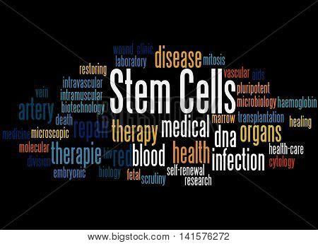 Stem Cells, Word Cloud Concept