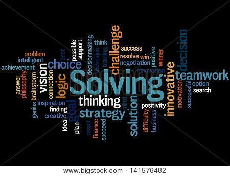 Solving, Word Cloud Concept 7