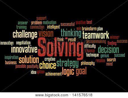 Solving, Word Cloud Concept 5