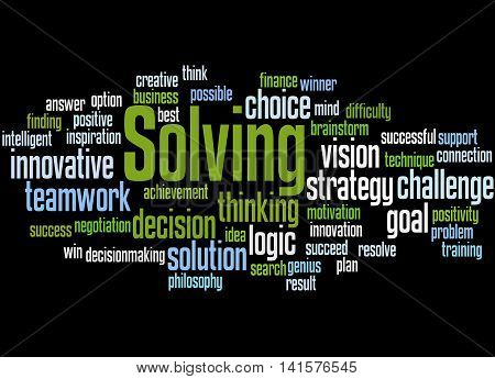Solving, Word Cloud Concept 4