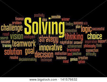 Solving, Word Cloud Concept