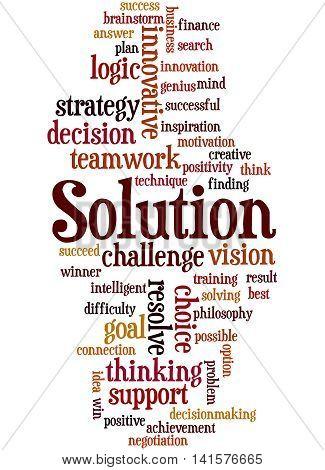Solution, Word Cloud Concept 8