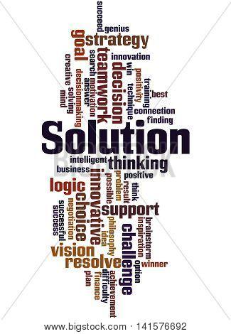 Solution, Word Cloud Concept 6
