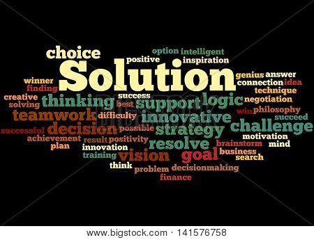 Solution, Word Cloud Concept 4