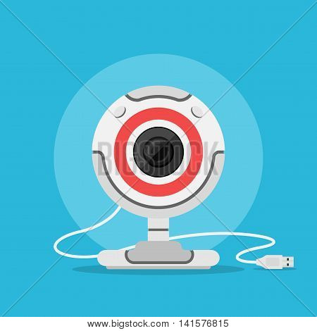 picture of web camera flat style illustration