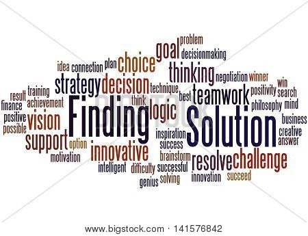 Solution Finding, Word Cloud Concept 8