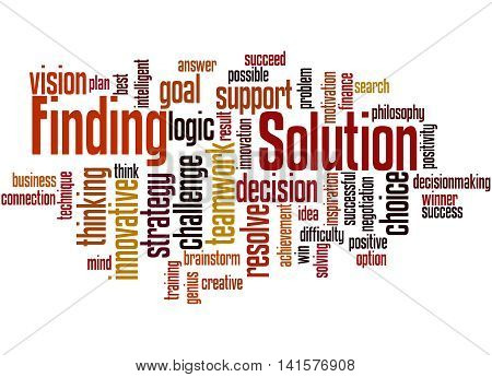 Solution Finding, Word Cloud Concept 3