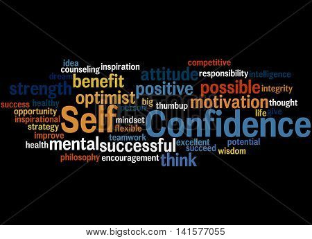 Self Confidence, Word Cloud Concept 9