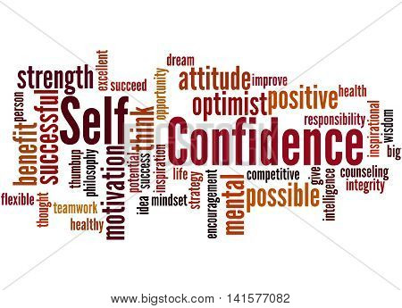 Self Confidence, Word Cloud Concept 7