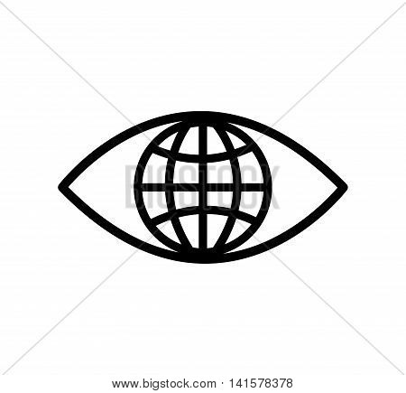 eye global look vision optical  icon. Isolated and flat illustration. Vector graphic
