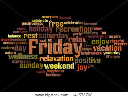 Friday, Word Cloud Concept